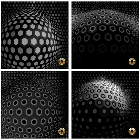 nanotechnology: Abstract hexagon mosaic  Illustration