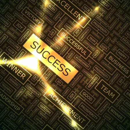 SUCCESS  Word collage Stock Vector - 16455128