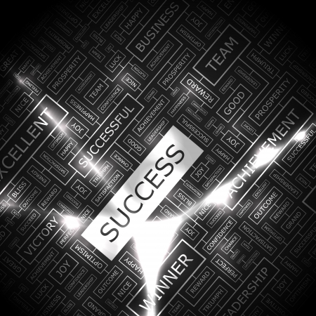 office force: SUCCESS  Word collage