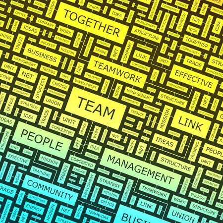 TEAM  Word collage  Vector