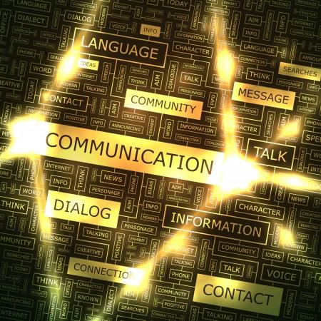 multimedia background: COMMUNICATION  Word collage