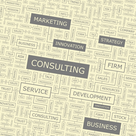 firm: CONSULTING  Word collage