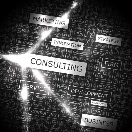 financial consultant: CONSULTING  Word collage