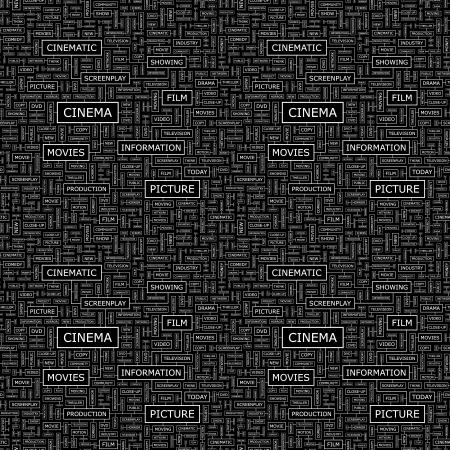 cinematograph: CINE vector patr�n Seamless