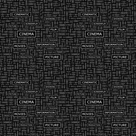 screenplay: CINEMA  Seamless vector pattern