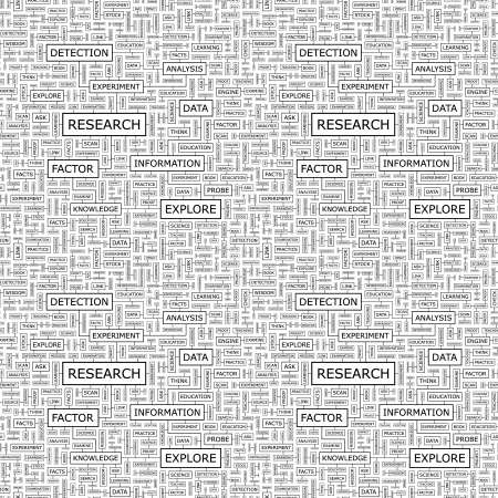 computer education: RESEARCH  Seamless vector pattern