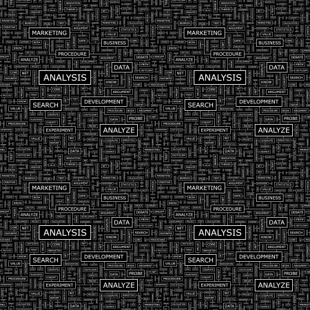 stratgy: ANALYSIS  Seamless vector pattern