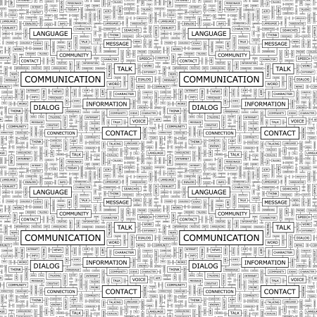 COMMUNICATION  Seamless vector pattern Stock Vector - 15339084
