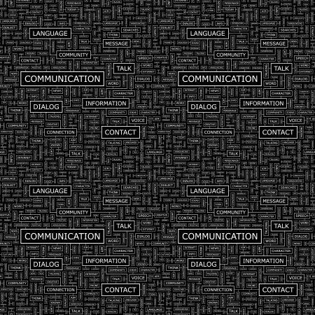 COMMUNICATION  Seamless pattern  Vector