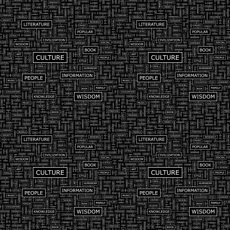 humanism: CULTURE  Seamless vector pattern