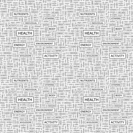 HEALTH  Word collage   Seamless vector pattern Stock Vector - 16709492