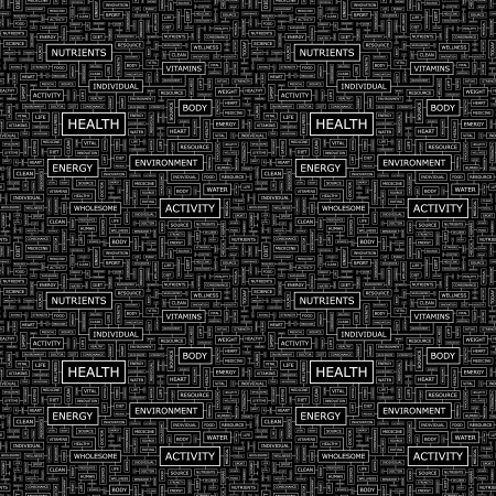 HEALTH  Seamless vector pattern Vector