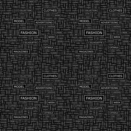 nude fashion model: FASHION  Seamless vector pattern