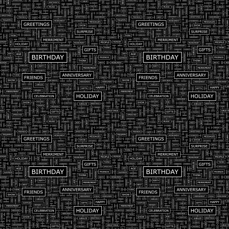 wingding: BIRTHDAY  Seamless vector pattern