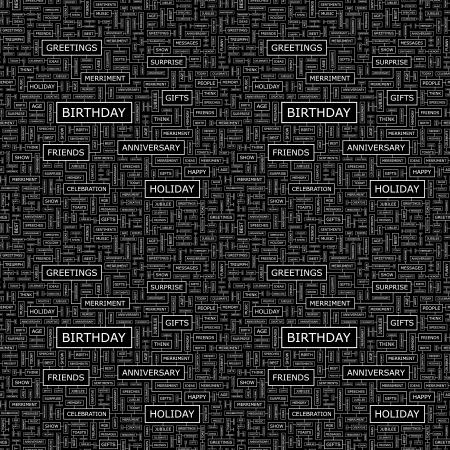 BIRTHDAY  Seamless vector pattern