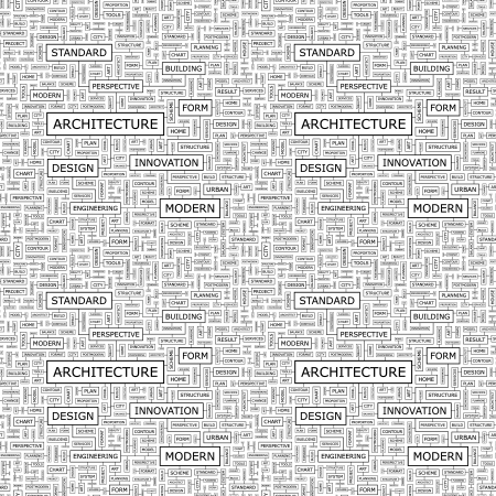 manage clutter: ARCHITECTURE  Seamless vector pattern