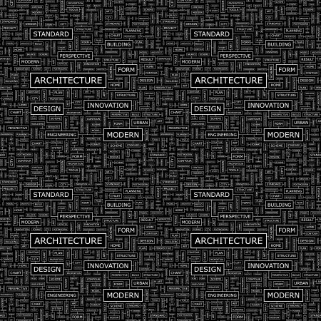 systematization: ARCHITECTURE  Seamless vector pattern
