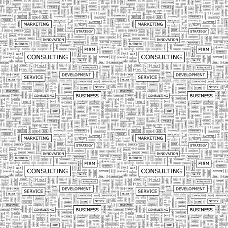 CONSULTING  Seamless vector pattern Vector