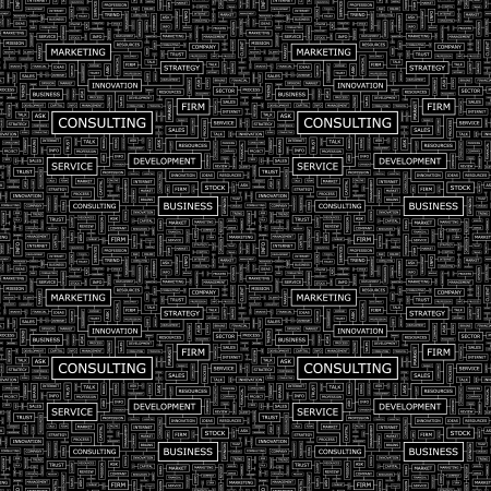 CONSULTING  Word collage  Seamless vector pattern  Vector