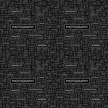 PHOTOGRAPHY  Seamless vector pattern Vector