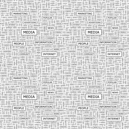 connect people: MEDIA  Seamless vector pattern