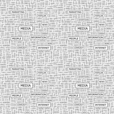 accessing: MEDIA vector patr�n Seamless