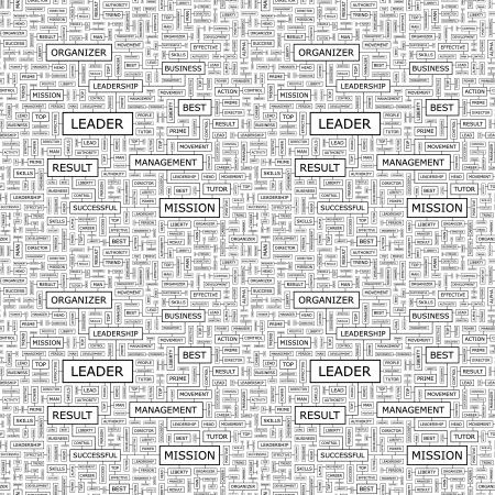 superintendent: LEADER  Seamless vector pattern