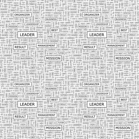 transactional: LEADER  Seamless vector pattern