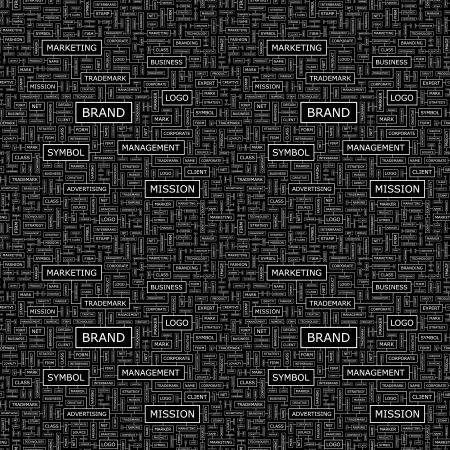 interbrand: BRAND  Seamless vector pattern