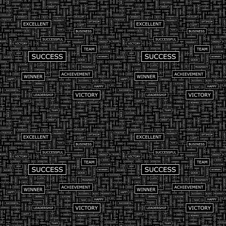 congratulations word: SUCCESS  Seamless vector pattern