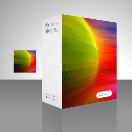 Vector packaging box  Abstract illustration  Vector