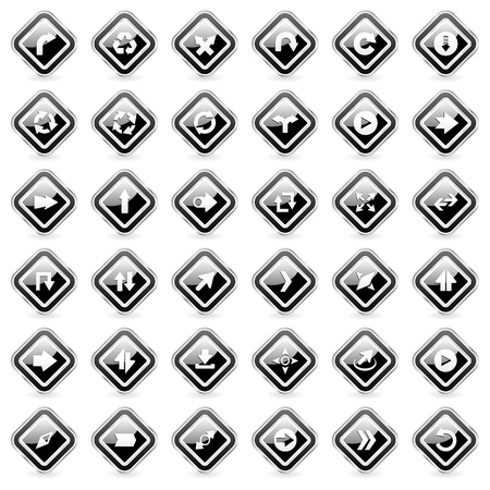 search button: Set of arrows  Vector illustration