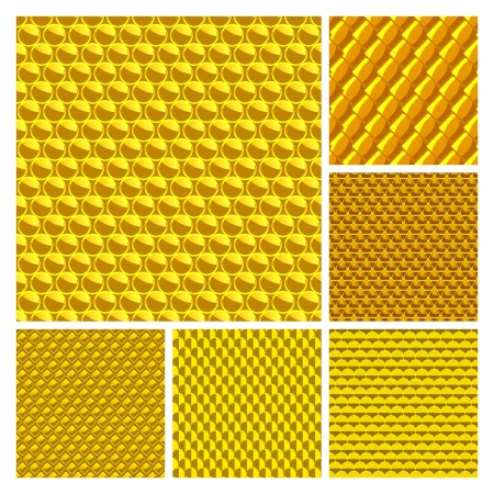 Golden seamless background  Vector