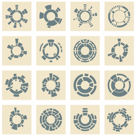 Collection of different graphic elements for design  Stock Vector - 15339273