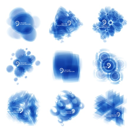 Blue abstract light background   Vector