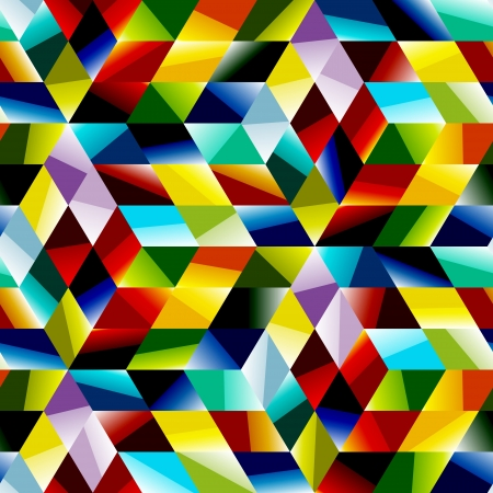 Seamless multicolor pattern  Abstract illustration   Vector