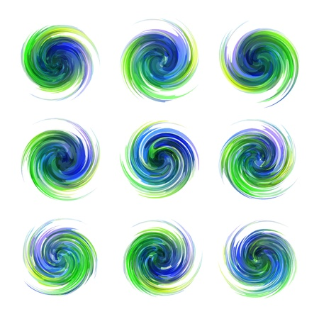 Swirl elements Stock Vector - 18395240