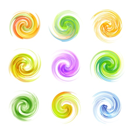 Swirl elements Vector