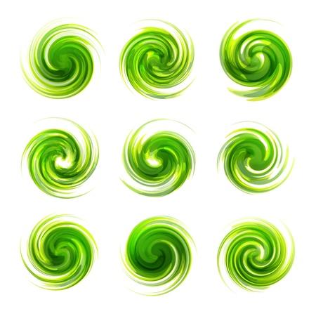 Swirl elements Vector