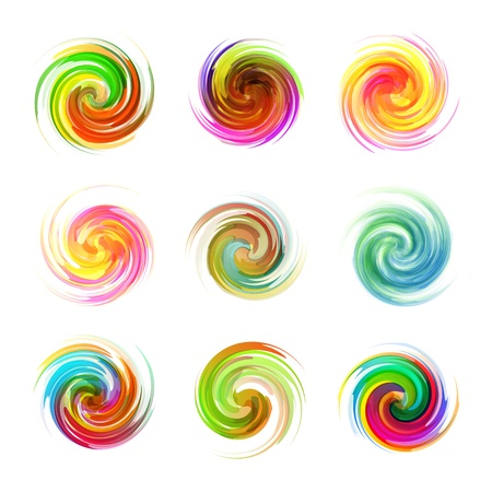 Swirl elements Illustration