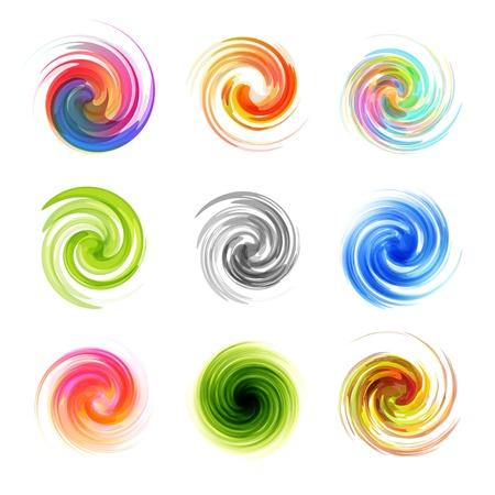 Swirl elements Illustration