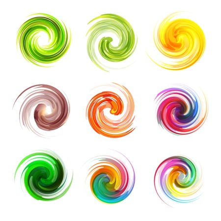 flow of colors: Swirl elements Illustration