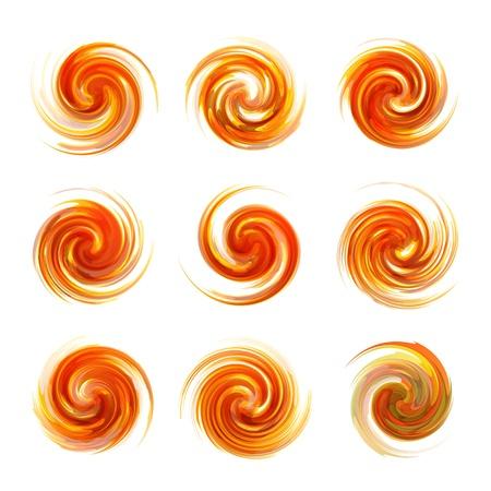 energy mix: Swirl elements Illustration