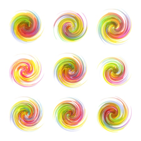 round: Swirl elements Illustration