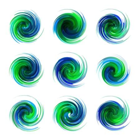 スワール: 渦要素  イラスト・ベクター素材