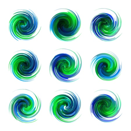 set form: Swirl elements Illustration