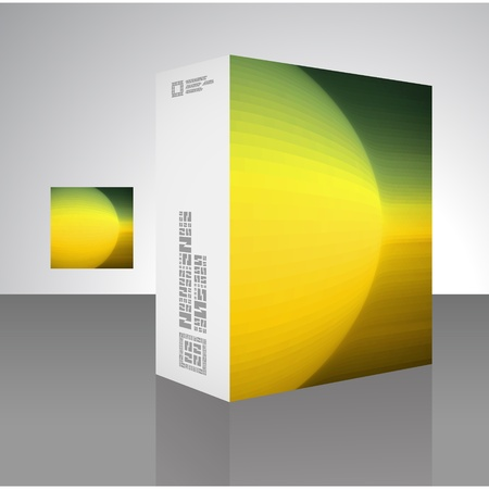 storage data product: Vector packaging box.