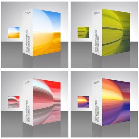 size distribution: Packaging box  Illustration