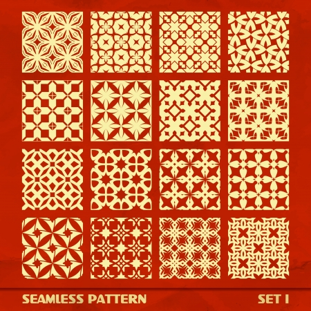 SEAMLESS PATTERN  SET 1 Vector
