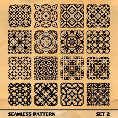 Nahtlose Muster SET 2 Standard-Bild - 17431644